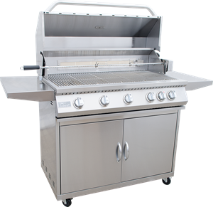 KoKoMo 5 Burner Grill With Cart - KO-BAK5BG + KO-BAK5BG-C