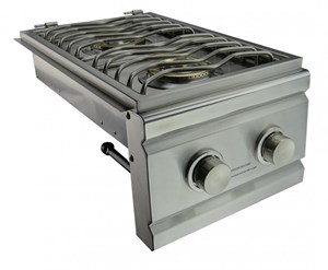 RCS CUTLASS  STAINLESS STEEL DOUBLE SIDE BURNER SLIDE IN - RDB1