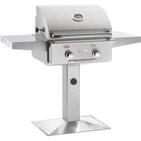 """AMERICAN OUTDOOR GRILL(AOG) 24"""" Patio Post Grill #24PPT-00SP """"T"""" Series - Liquid Propane"""