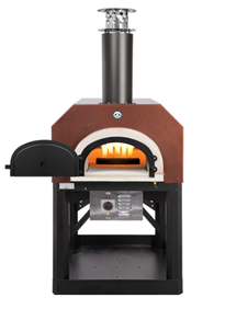 Chicago Brick Oven CBO-750 HYBRID With Stand Outdoor Wood Fired Pizza Oven  -  Copper Vein