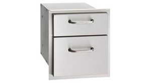 AMERICAN OUTDOOR GRILL(AOG) Premium Double Drawers 16-15-DSSD