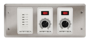 Infratech Two Zone Analog Control With Digital Timer For Electric Heater- 30-4046
