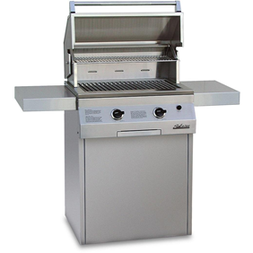 "Solaire 27"" Deluxe InfraVection Gas Grill on Square Cart Base, Stainless Steel SOL-IRBQ-27GVIXLC"