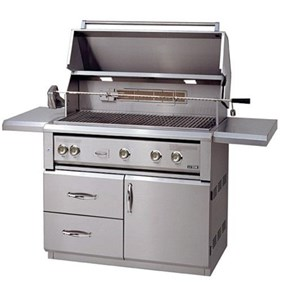 "Luxor 42"" Free Standing Gas Grill With Rotisserie and CV Burners -  AHT-42FR-CV-L"