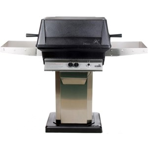 PGS A40 Cast Aluminum  Gas Grill on Stainless Steel Flat Patio Base A40+ASPED+ANB