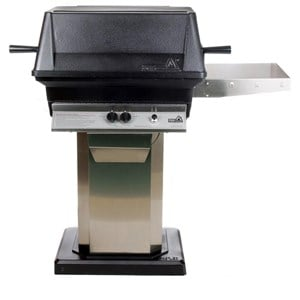 PGS A30 Cast Aluminum Gas Grill on Stainless Steel Flat Patio Base A30+ASPED+ANB