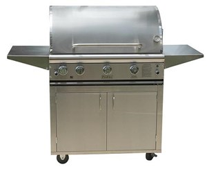 ProFire Professional Deluxe Series 36-Inch Freestanding Infrared Hybrid  Gas Grill With Rotisserie - PFDLX36RIH + PF36SSCBP
