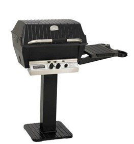 "BROILMASTER DELUXE GAS GRILL PKG 3 w/26"" PATIO POST & SIDE SHELF H4PK3N"