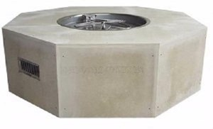 HPC Ready-to-Finish Gas Outdoor Octagon Fire Feature Push Button Flame Sensing-U54O/FPPK25CEK 24 VAC