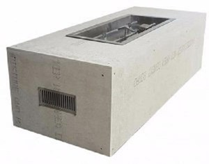 HPC Ready-to-Finish Gas Outdoor Fire Feature, Trough Remote Electronic Ignition - U60X24/36CEK
