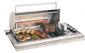 Fire Magic Legacy Regal I Natural Gas Countertop Grill w/Rotiserrie & Backburner 34-S2S1N-A