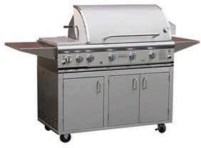 ProFire Professional Series 48-Inch Freestanding Gas Grill With Rotisserie & Double Side Burner - PF48RS + PF48SSCBN