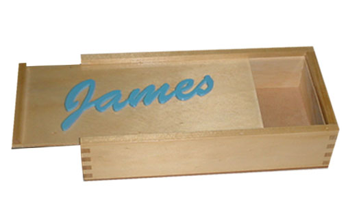 Personalised Pencil Box Wood Puzzles