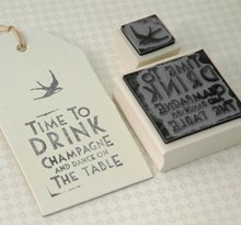 Rubber Stamp bird and/or Time to Drink!