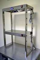 NEW 2 TIER HEATED GANTRY / LIGHT SHELF - EN282