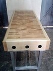 Butchers Block 5ft by 2ft and Stand