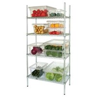 4 Tier Wire Shelving Kit 1525x 460mm