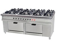 8 Burner Cooker with 2 Ovens EN218