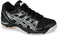 CLOSEOUT, ONLY SIZE MEN'S 8.5, LADY'S 10 - Asics Gel-1140V Squash / Volleyball Unisex Shoes, Black/Silver