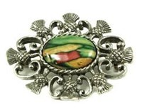 Heathergem pewter brooch