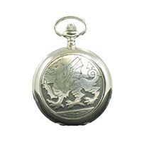 Mechanical welsh dragon pocket watch