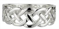 S2405  -Ladies  Celtic Weave Rings