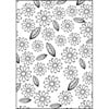 Hobby Solution Embossing Folder mpress Flowers & Leaves 10.6cm x 15cm FREE SHIPPING