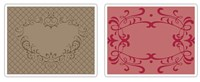 Sizzix Textured Impressions Embossing Folders 2PK - Heart & Ornate Frames Set 657339 FREE SHIPPING