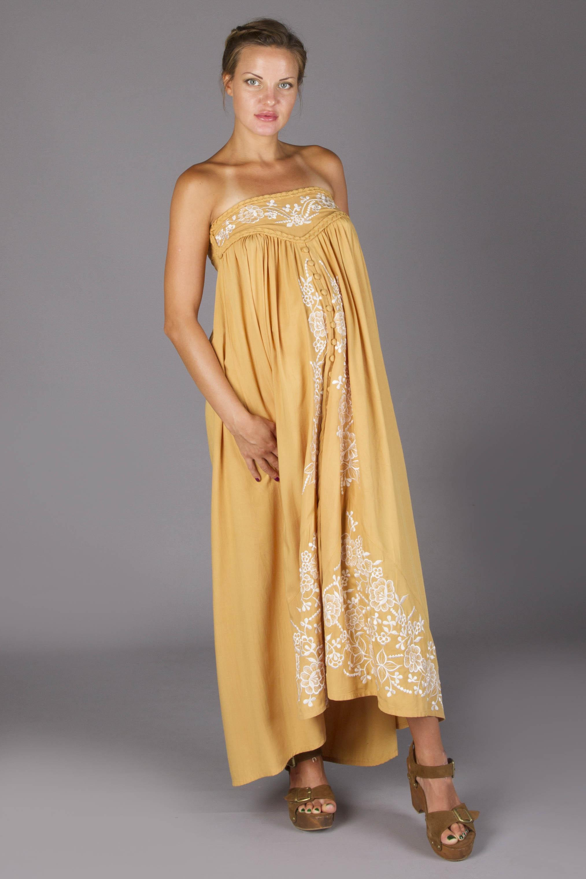 Quot Abbey Road Quot Maternity Maxi Skirt Strapless Dress Gold