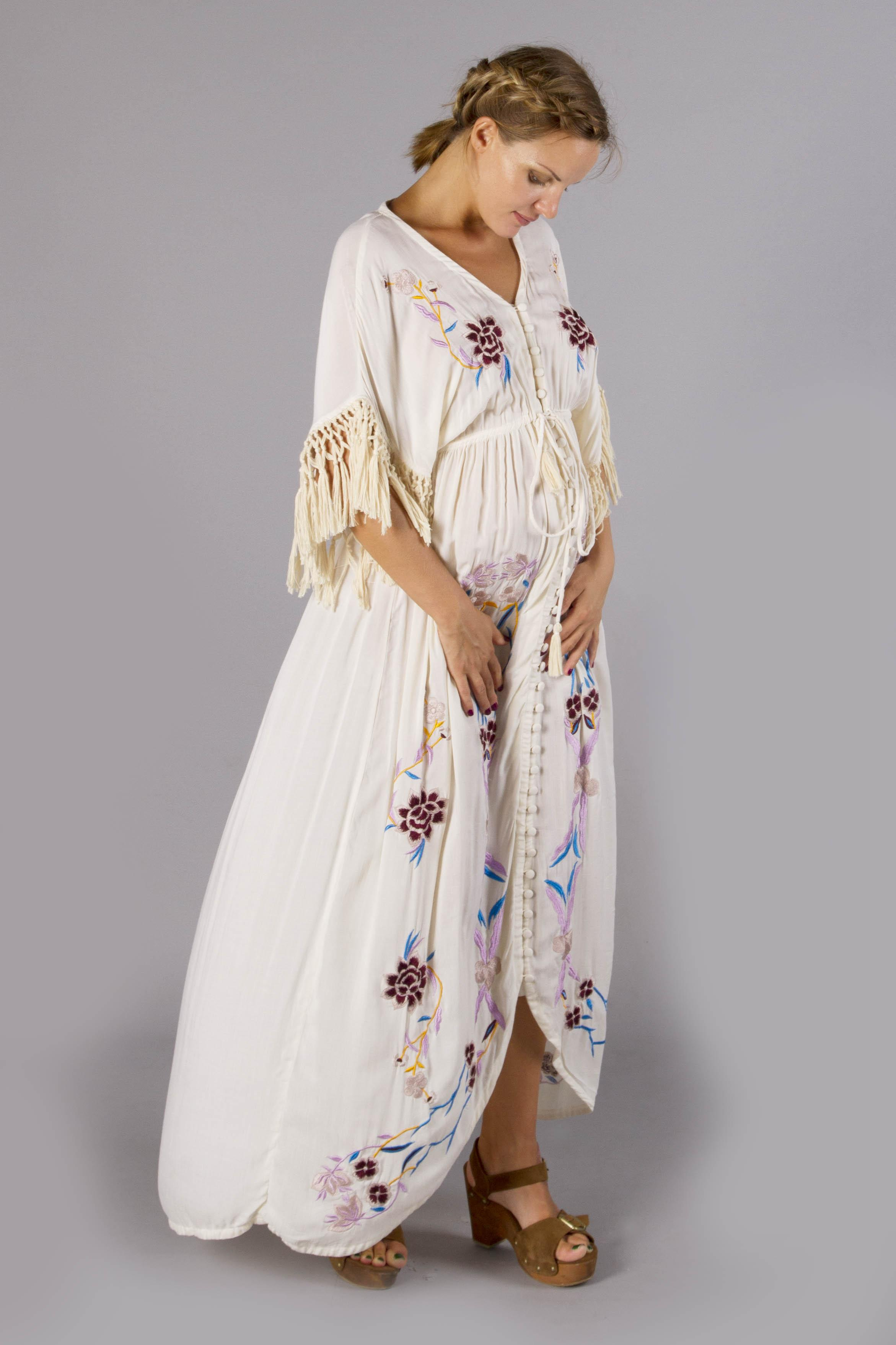 Quot Bojangles Quot Button Through Maternity Duster Maxi Dress