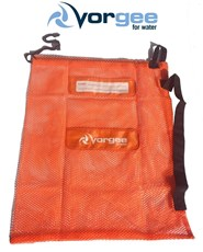 VORGEE Mesh Swim Equipment Bag Bright Orange