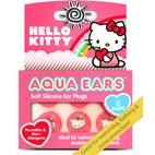 Hello Kitty Aqua Ears Kids Moldable Ear Plugs for hearing protection, swimming, bathing - 6 PAIRS