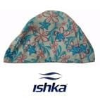 Kids Lycra Swimming Cap - Blue/Pink Flowers