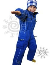 OKco Baby, Tots & Kids One Piece Ski / Snow Suit (Blue) Size 8 only