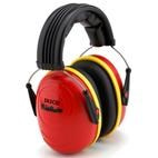 *FREE STORAGE TOTE** Tasco KidSafe Hearing Protection Ear Muffs for Babies & Kids - Red (NRR 25dB)