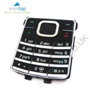 Original Nokia 6500 Classic Replacement Keypad Buttons - Black