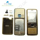 Nokia 6300 Full Gold Housing Fascia Cover with FREE keypad - Gold