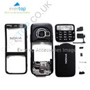 BLACK Nokia N73 Mobile Phone Fascia / Cover / Full Housing Set with FREE keypad Buttons