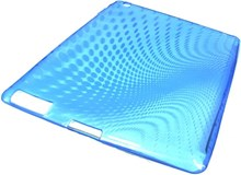Apple iPAD 2 Protective TPU Skin Case / Premium Quality / Blue