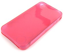iPhone 4 Protective TPU Soft Skin Case / Transparent Pink