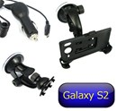 Samsung Galaxy S2 Car Holder Kit with Car Charger & Suction Mount