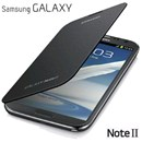 Genuine Samsung Galaxy Note 2 N7100 Flip Cover Case in Titanium Grey Silver EFC-1J9FS