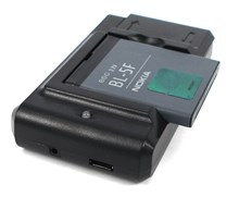 Genuine Nokia BL-5F Battery with Desktop Battery Charger Cradle for Nokia N96 / N93i / N95 / E65 / 6710 Navigator / 6260 / 6210 Mobile Phones-BL5F