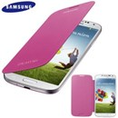 Original Samsung Galaxy S4 i9500 Flip Cover Case in Pink EF-FI950BPEGWW