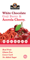 Sugarless Co White Chocolate Goji Berry & Acerola Cherry 80g