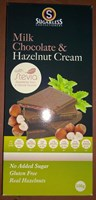 Sugarless Co Milk Chocolate & Hazelnut Cream 100g