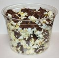 Chocolate Covered Popcorn in Tub