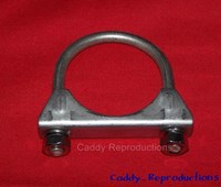 "1940 - 1966 Cadillac Muffler Clamps 2"" Stainless Steel"