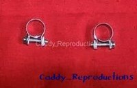 1946 - 1956 Cadillac Small Fuel Filler Clamps Pair