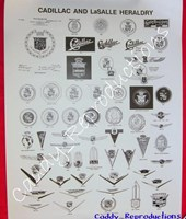 "1940 - 1966 Cadillac Poster ""Heraldry"""